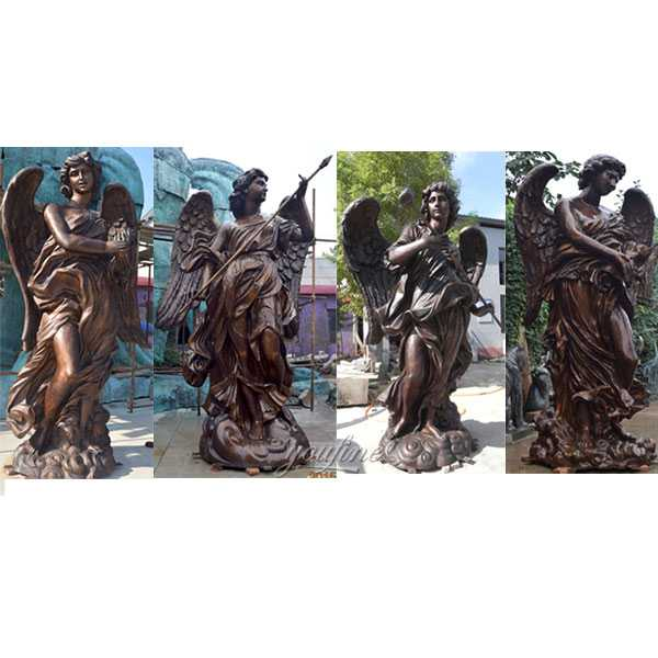 Famous bronze baroque art Bernini angel  designs replicas at angel castle for sale for your garden decor–BOKK-479
