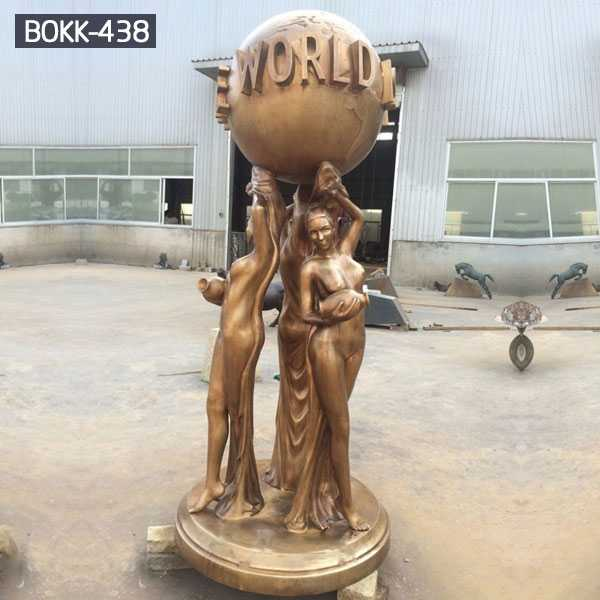 Famous bronze sculpture scarface the world is yours statue replica for sale–BOKK-438