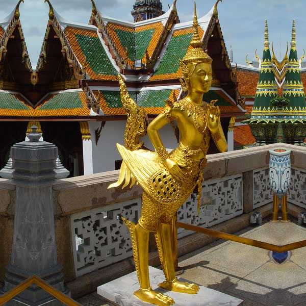 Famous sculpture large bronze statue of a kinnara for sale