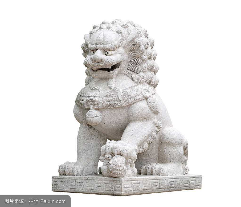 Female Chinese Fu or Foo Dog Statue with Small Lion For Sale