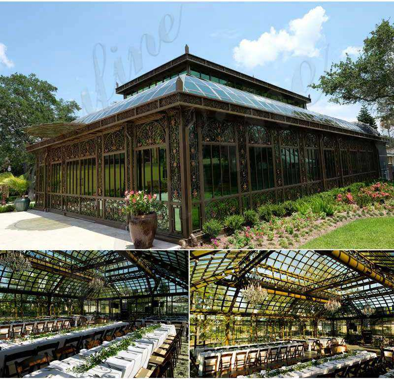 Giant Outdoor Backyard Wrought Iron Gazebo for Wedding Ceremony for Sale