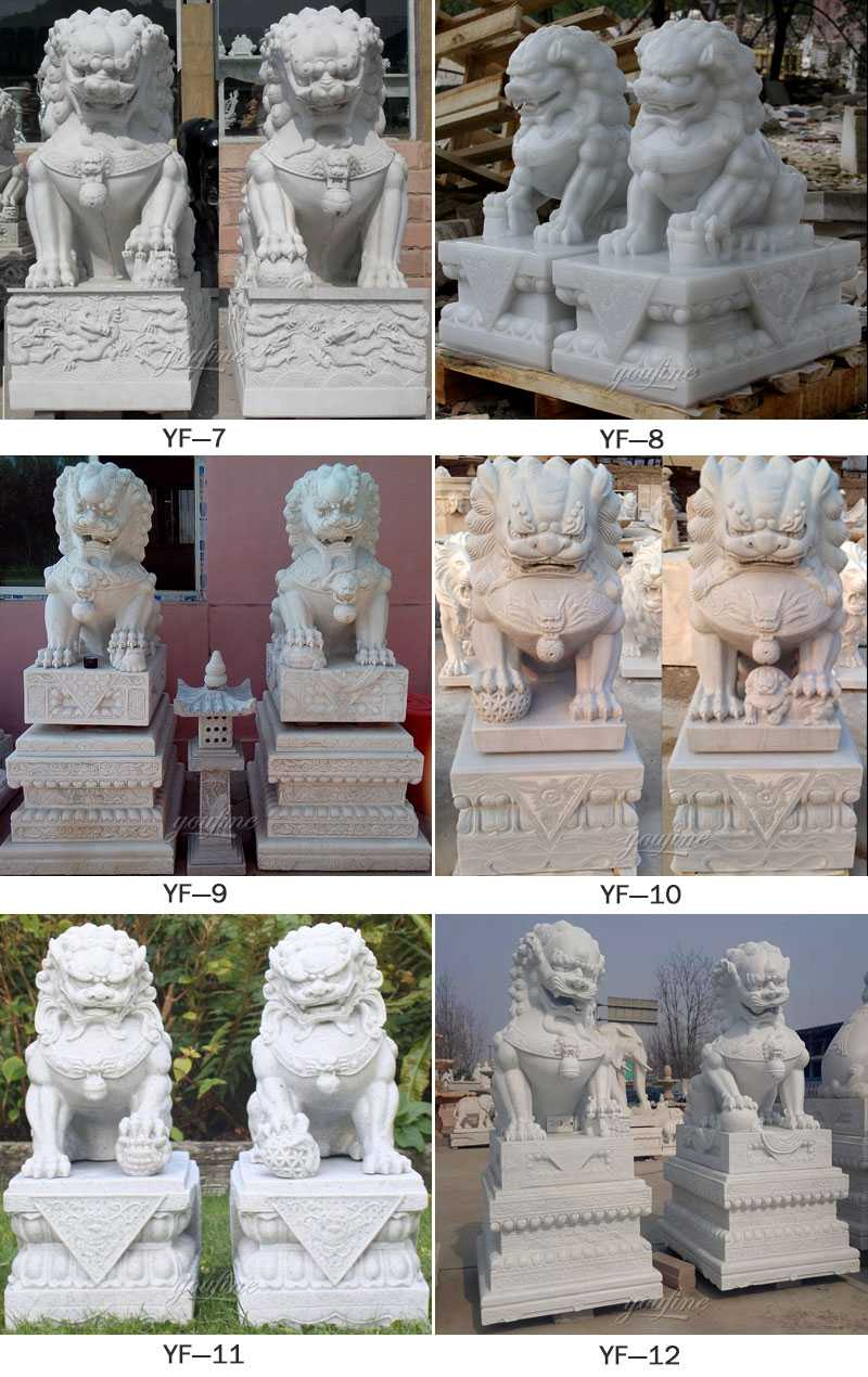 Hot selling paired Chinese Fu or Foo statue for sale