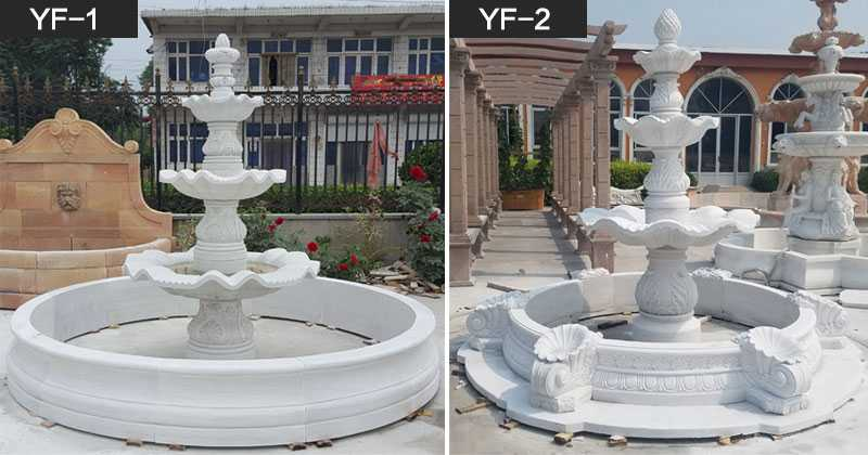 Hot selling three easy tiered patio water fountain for front door decor for sale