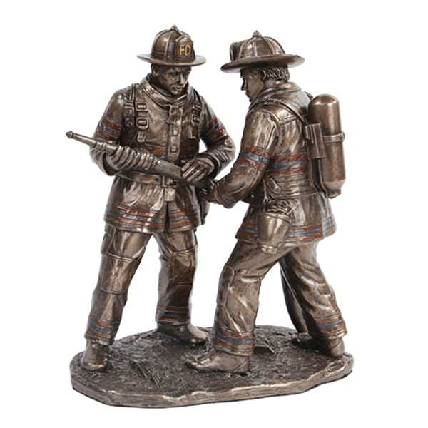 Life Size Casting Bronze Army Soldier Garden Statue Fireman Teamwork Firefighters Bronze Statue For Monument For Sale–BOKK-485