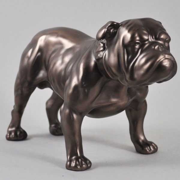 Life size antique bronze dog statues outdoor garden bulldog statues lawn ornaments for sale–BOKK-487