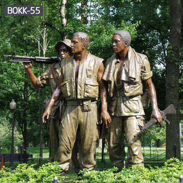 Life size bronze satue The Three Soldiers vietnam veterans memorial statue replica--BOKK-55