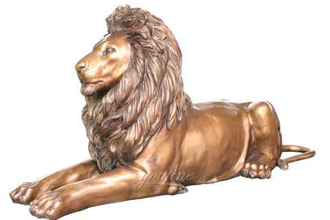 Life size outdoor casting bronze lion statues for driveway for sale from China--BOKK-473