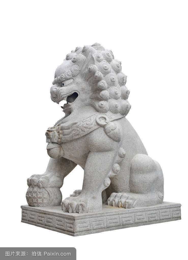 Male Chinese Fu or Foo Dog Statues with Small Lion For Sale