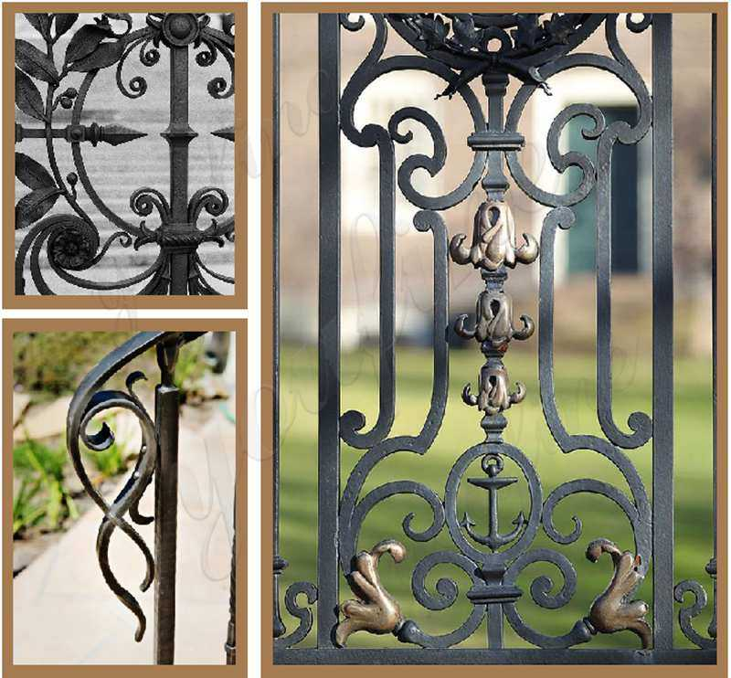 Metal Yard Wrought Iron Fence for sale
