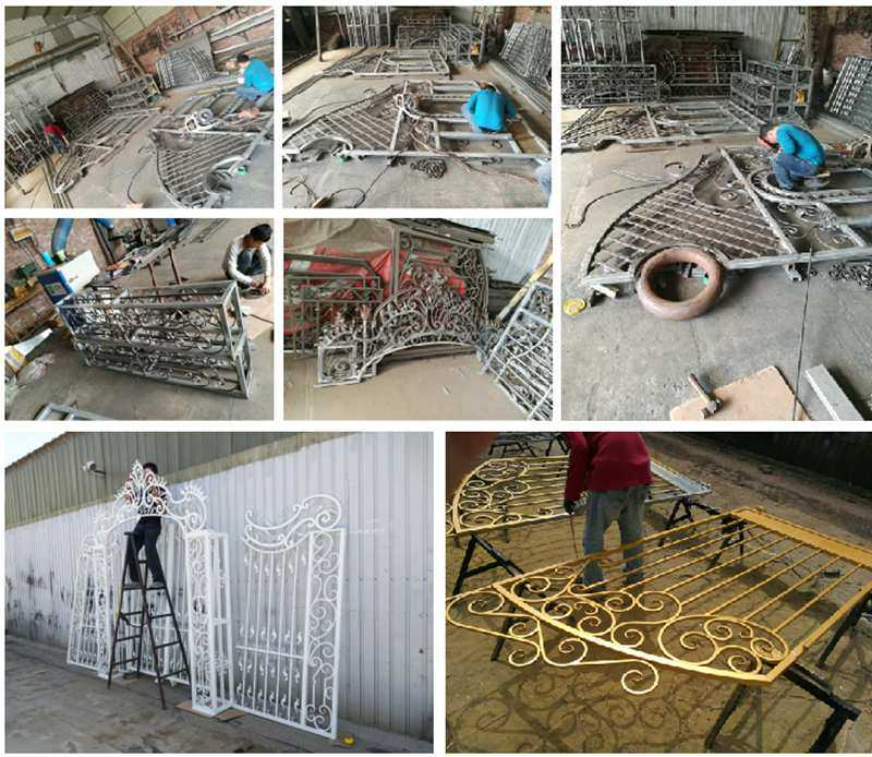 Metal Yard Wrought Iron Fence
