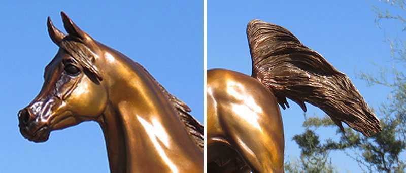 Modern Black Arabian Horse Statue Bronze Standing Horse Sculptures For Sale For Home Decor Or Garden Decor