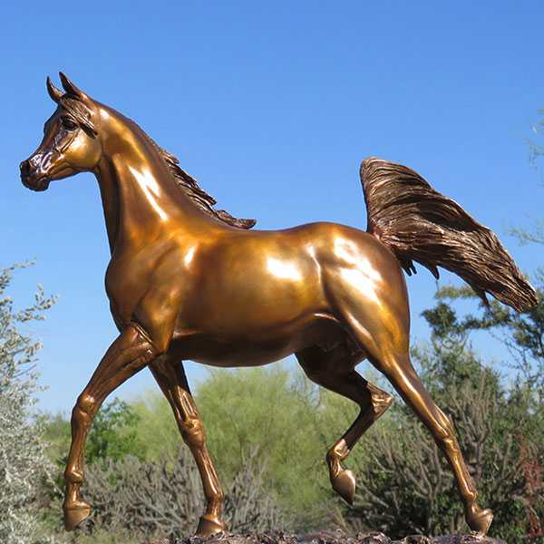 Modern Arabian Horse Statue Bronze Standing Sculptures For Home Decor Or Garden
