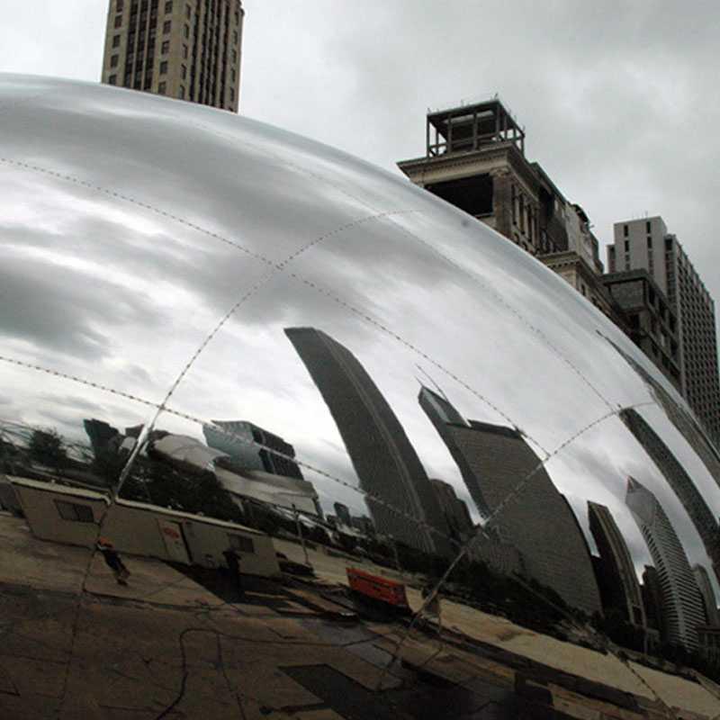bean sculptures famous cloud gate sculpture spot welded