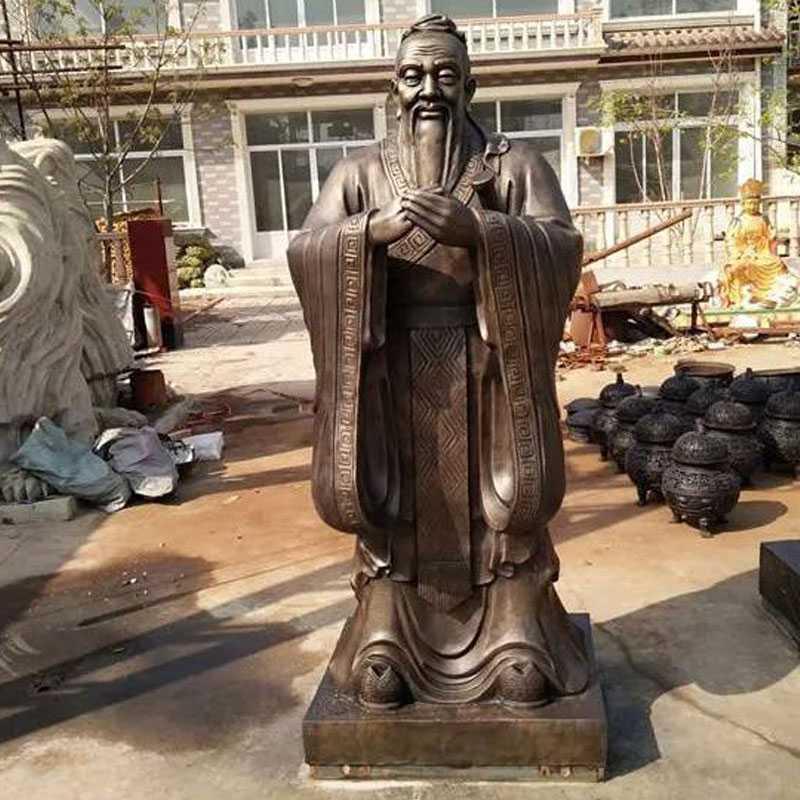 bronze Confucius statue for sale