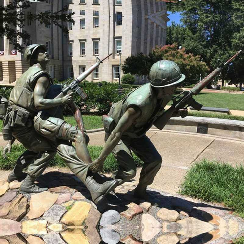 bronze Vietnam war statue for sale