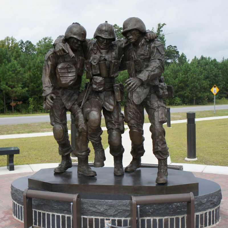 bronze Vietnam war three soldier statues for sale