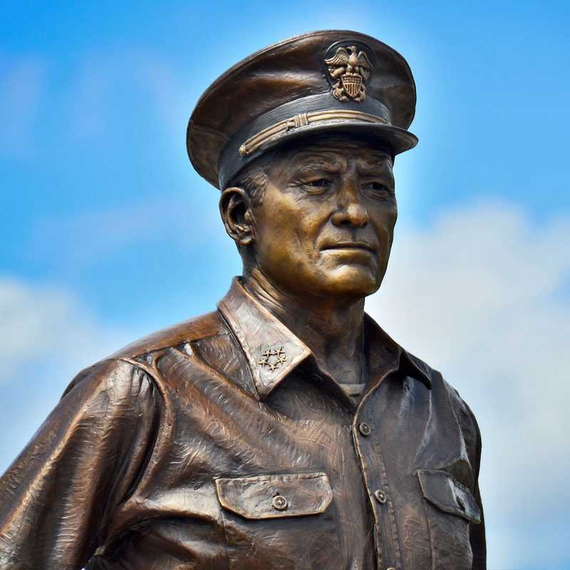 casting bronze famous statue American Navy Admiral Nimitz and his bronze sculpture for sale