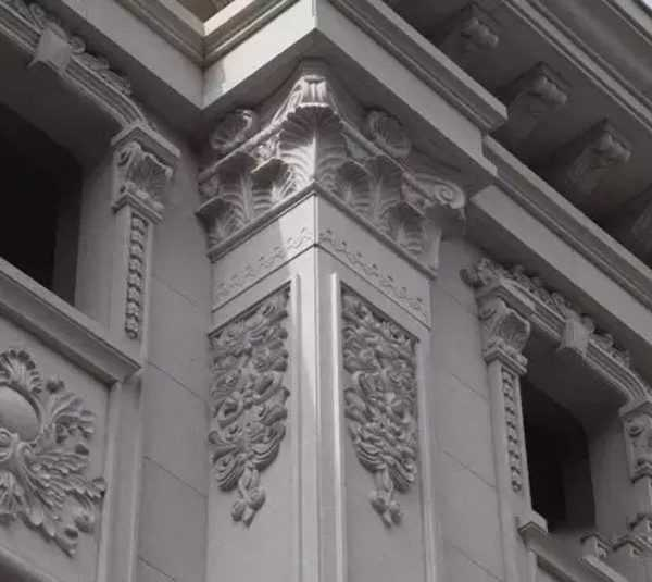 detail of nature stone building