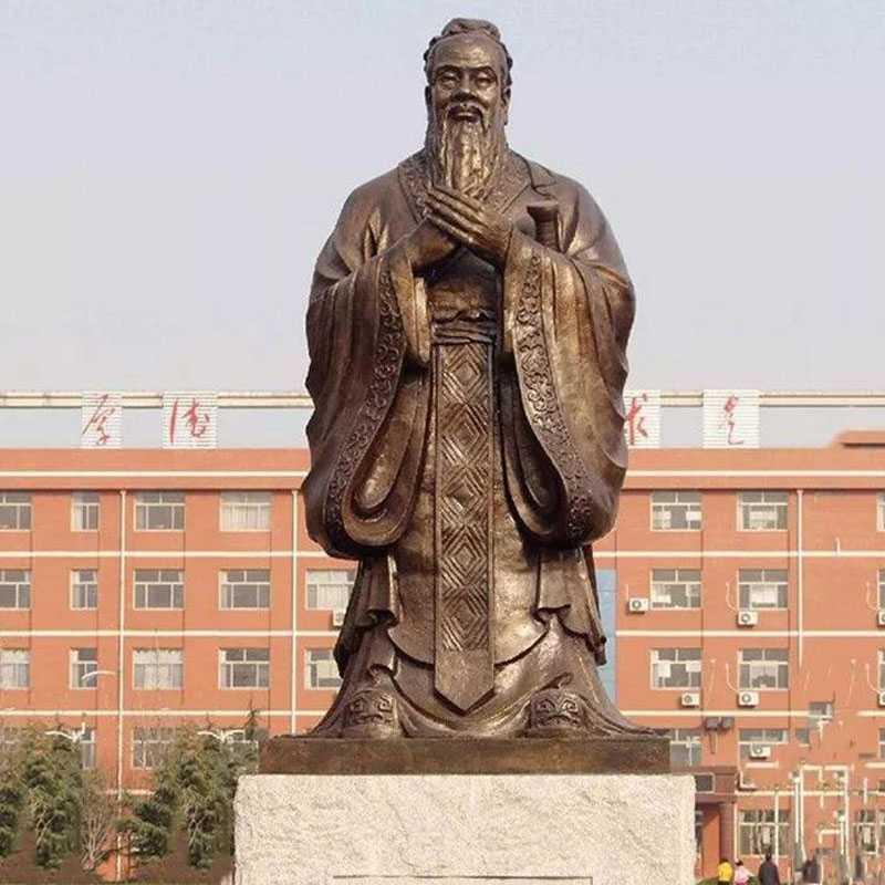 famous antique bronze Confucius statue for sale