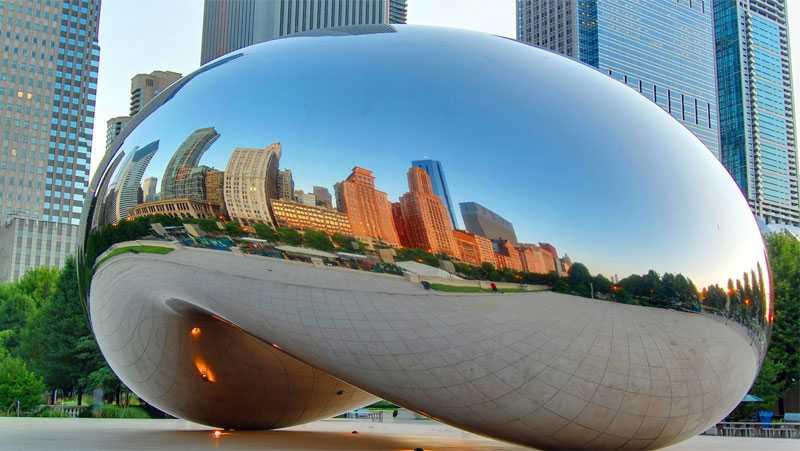 famous bean sculpture large cloud gate replica