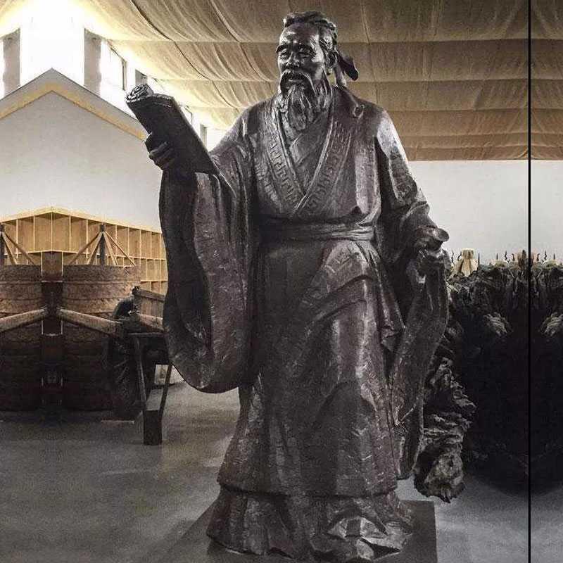 famous bronze Confucius statues