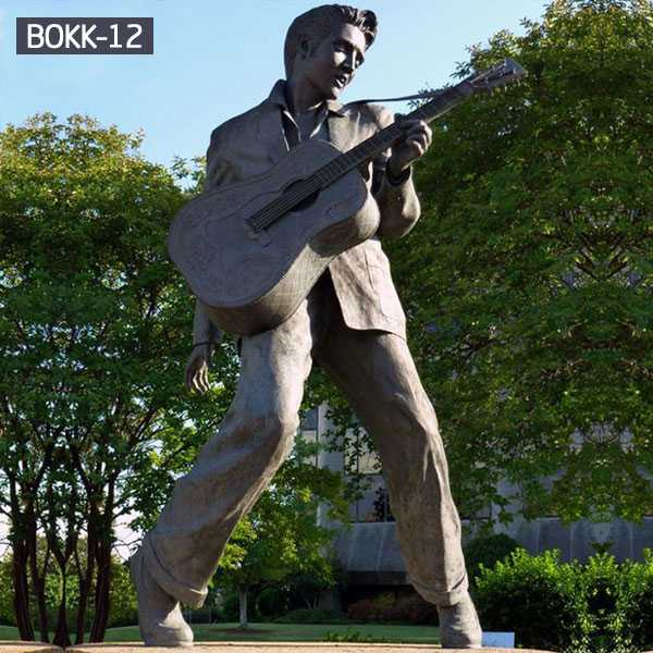 famous bronze figure statue elvis presley statue replica for sale BOKK-12