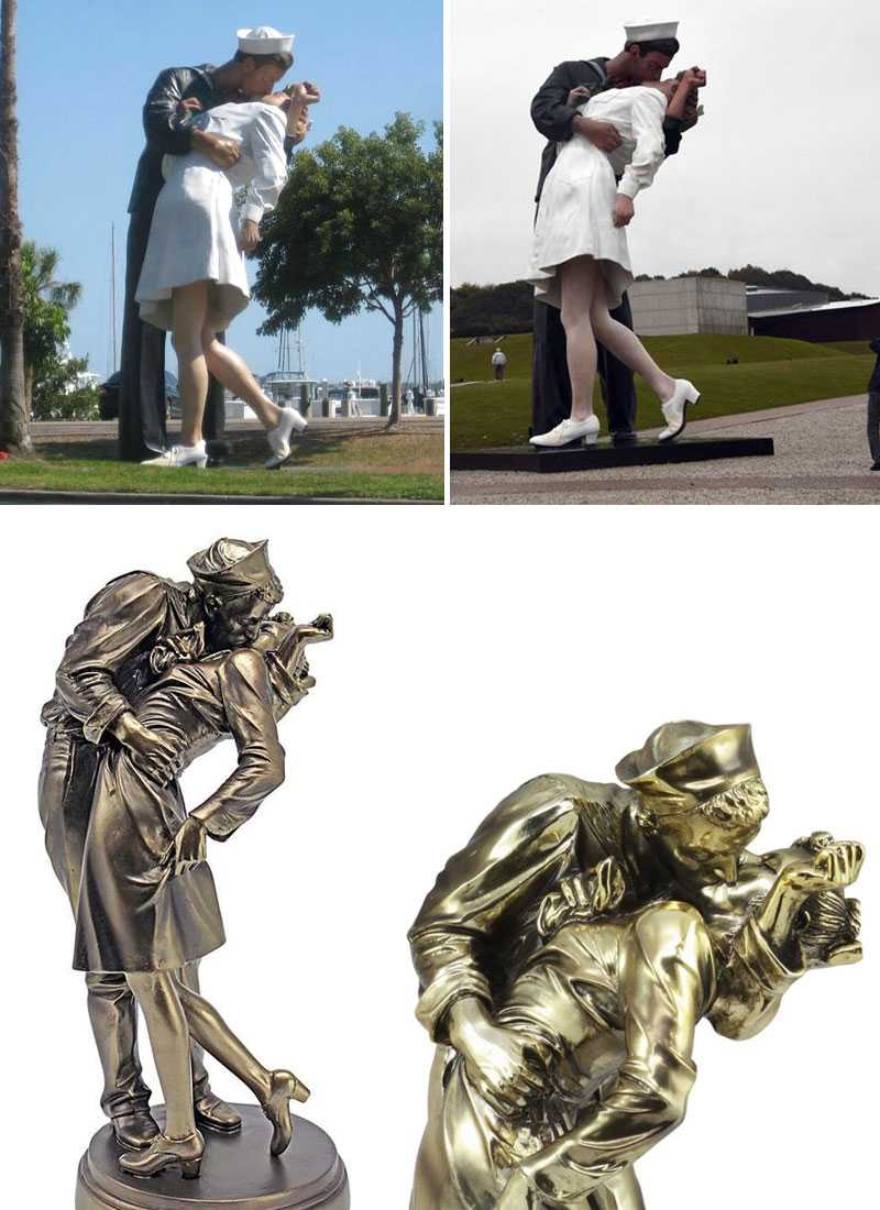 famous bronze statue The Kiss of the century sculpture