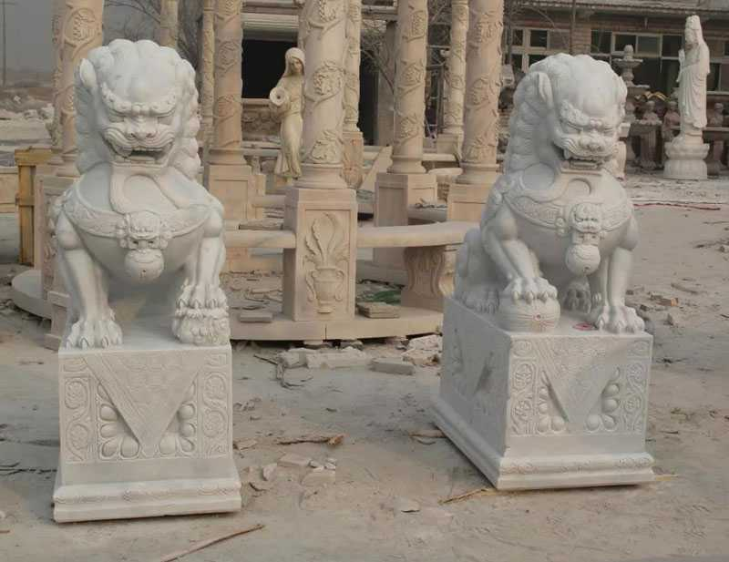guardian lion statues for entrance decor