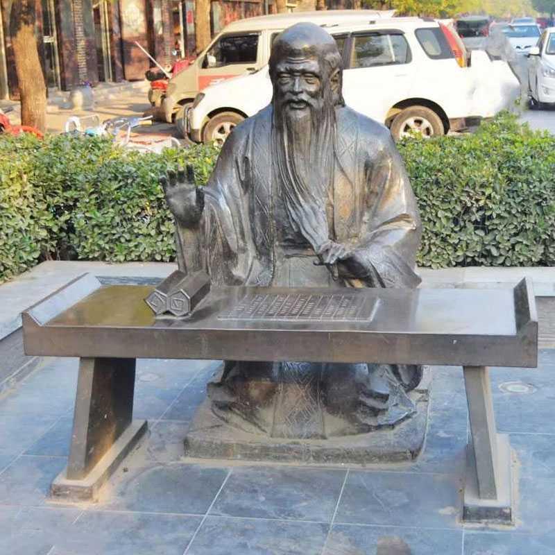 life size bronze Confucius statue for sale
