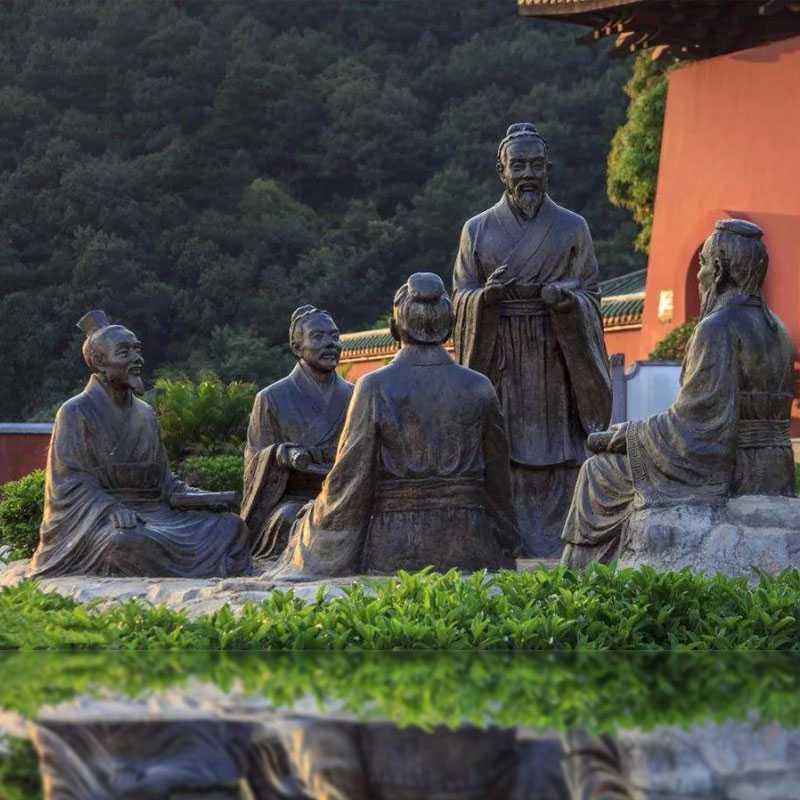 life size bronze Confucius statue