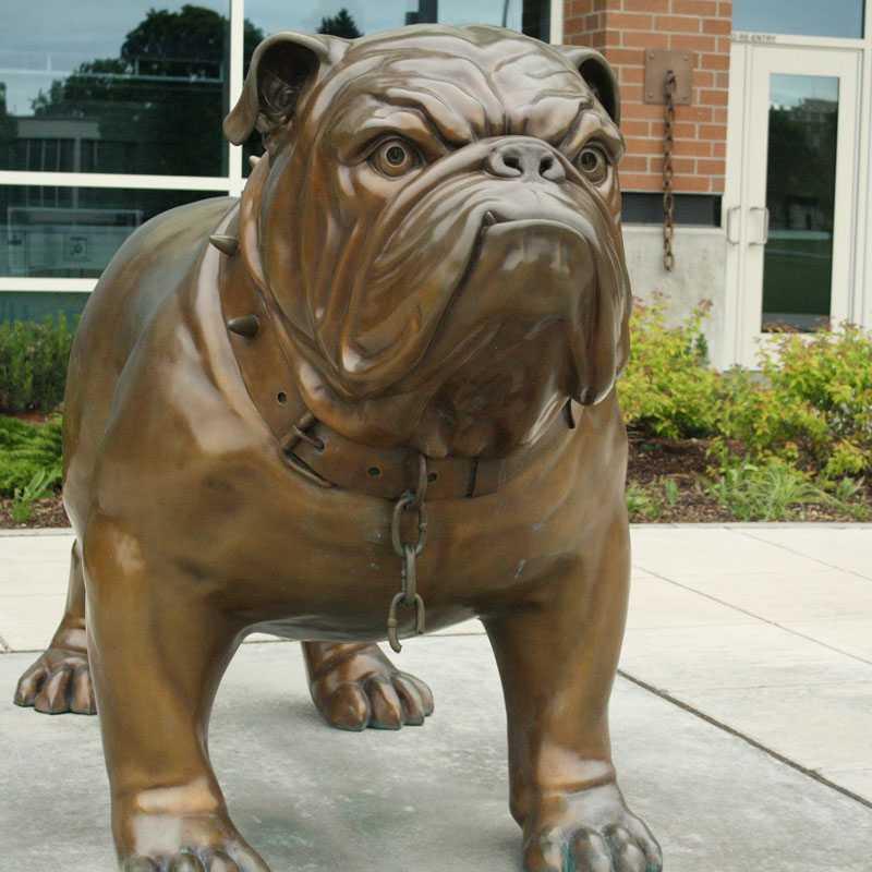 life size bronze bulldog statue for sale
