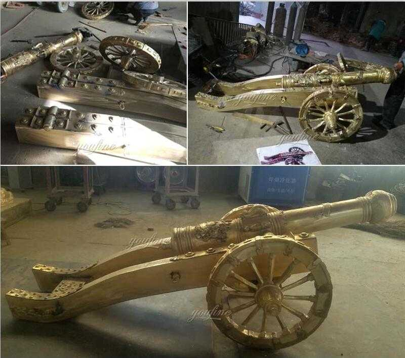 life size custom antique bronze cannon for sale