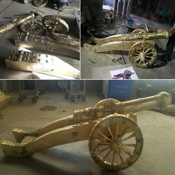 life size custom antique casting bronze cannon for sale (2)