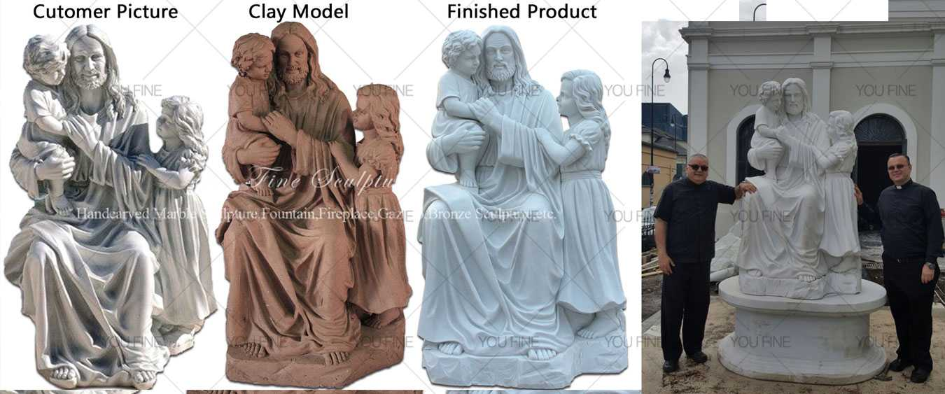 marble holy family statue for sale