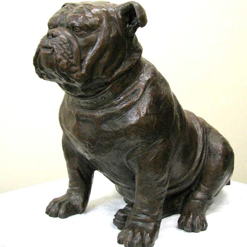 outdoor bronze bulldog statue for sale