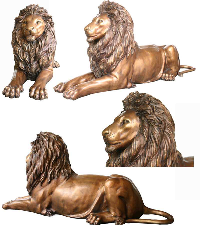 outdoor casting bronze lion statue for sale