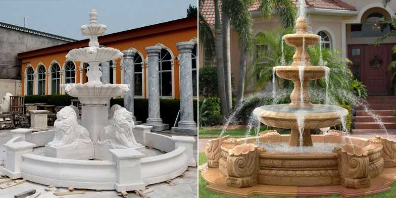 patio marble tiered water fountain for sale