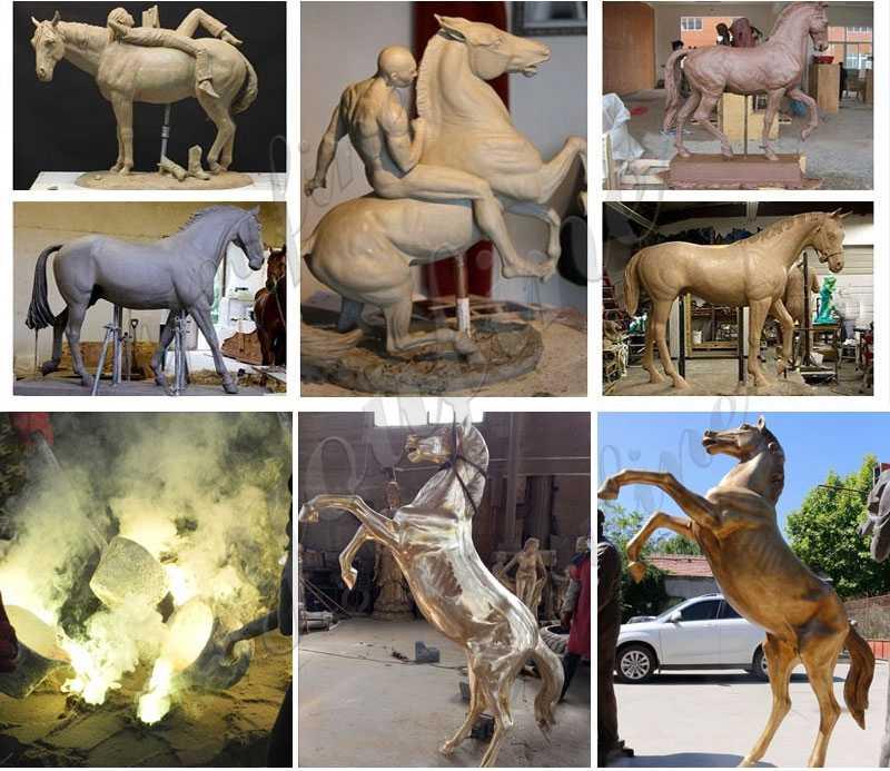 process of Bronze Arabian Horse Statue