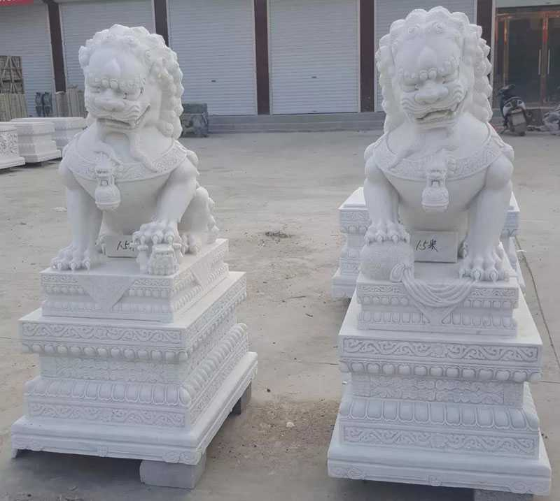 small chinese guardian lion statue for sale