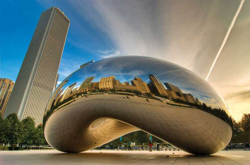 stainless steel cloud gate replica for sale