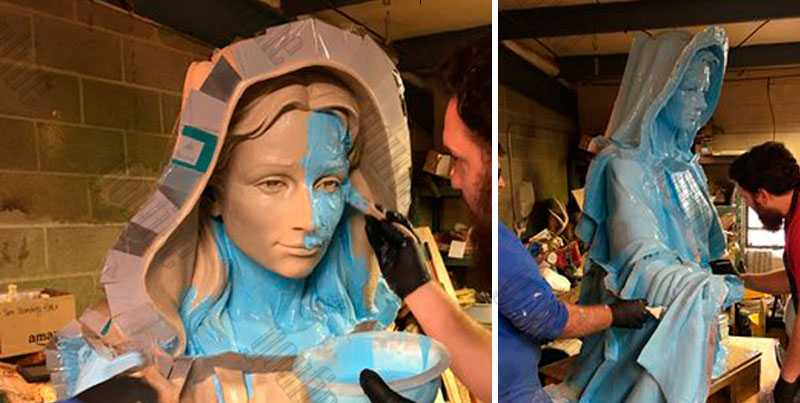 2.silicone rubber mold Making of our lady of virgin mary statue