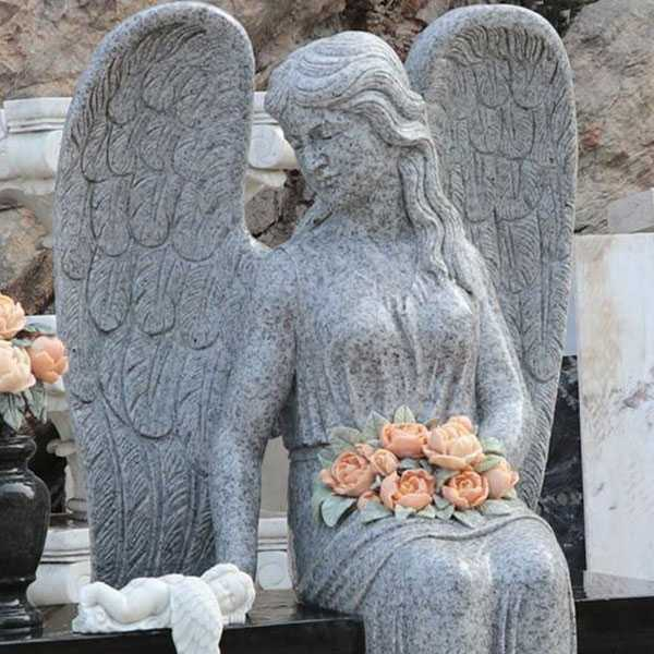Discount Angel For Graves Black Large Granite Angel Headstone Designs For Baby