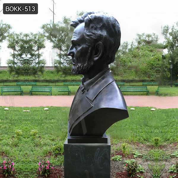 Large Custom Made Abraham Lincoln Replica of Bronze Bust Statue Decorative Bust Sculptures for Home Decor