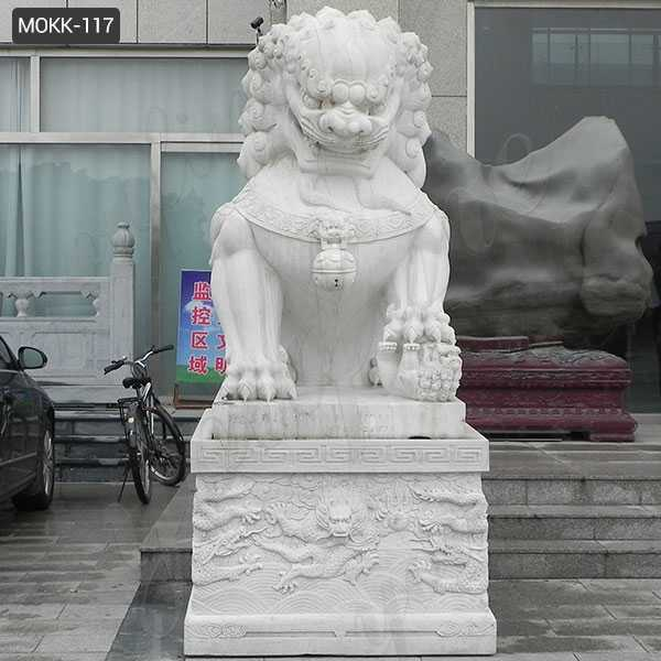 Life Size Statue Chinese Guardian Lions Stone Art Marble Foo Dog Statues