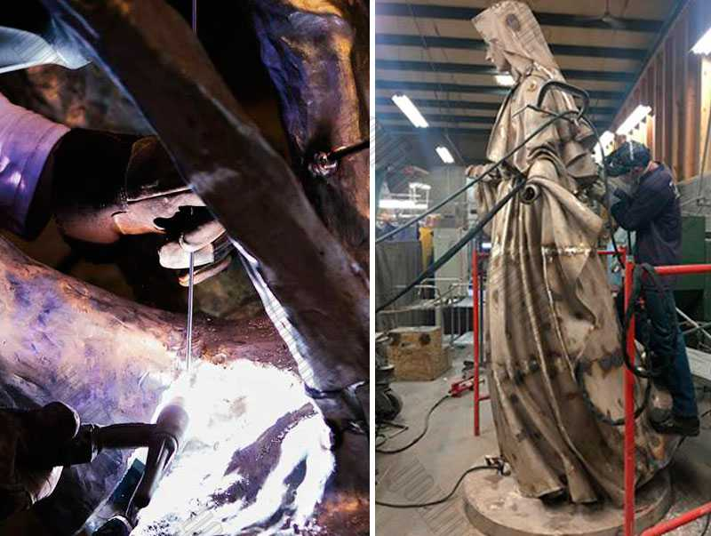 7.metal welding of our lady of virgin mary statue