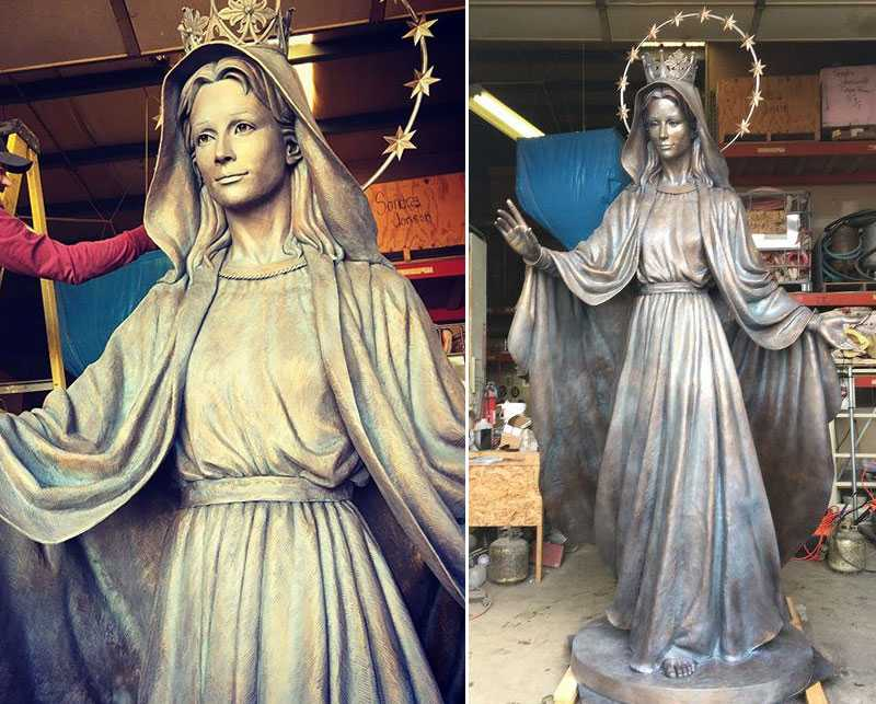 9.finish of our lady of virgin mary statue