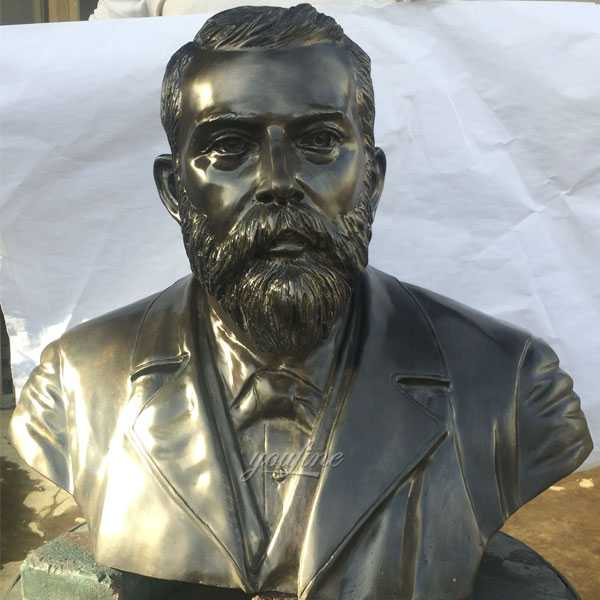Antique bronze bust of the hotel king Josef Durrer design for sale--BOKK-472