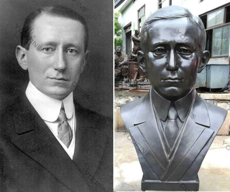 famous custom bust sculpture Guglielmo Marconi