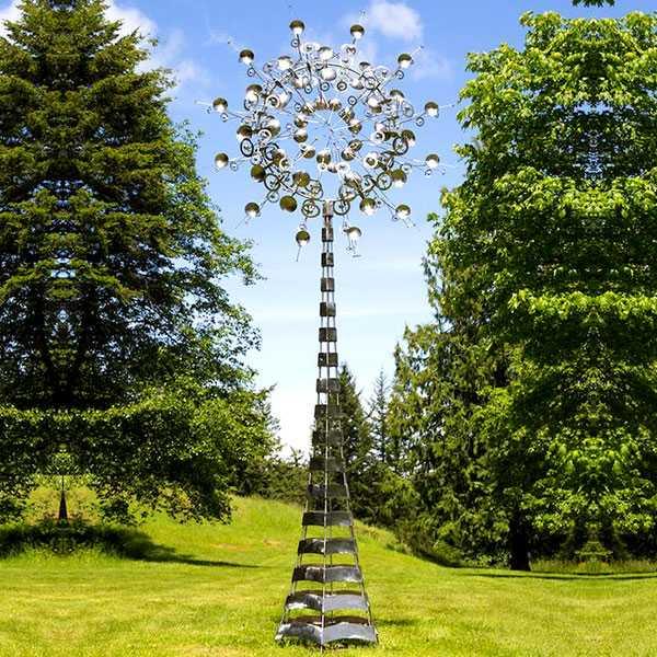Buy modern metal sculpture kinetic wind sculptures design replica for sale metal yard art sculptures ideas online--CSS-48
