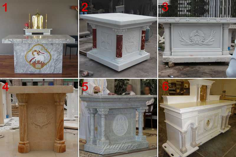 Catholic Church Decor Marble Religious Altar Table Design for Sale